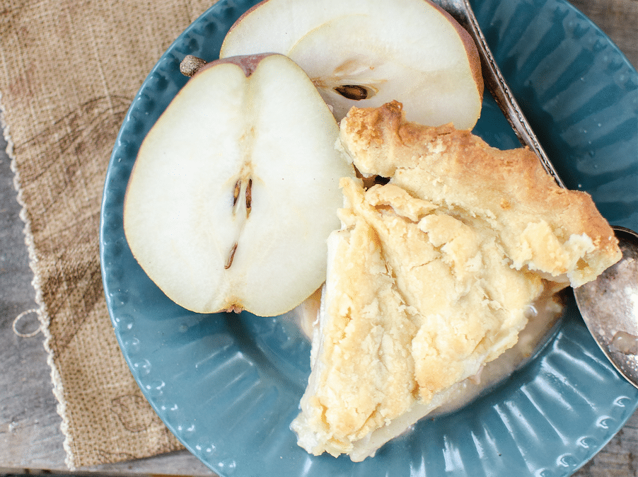 Rustic Pear Pie with Lard Crust Recipe