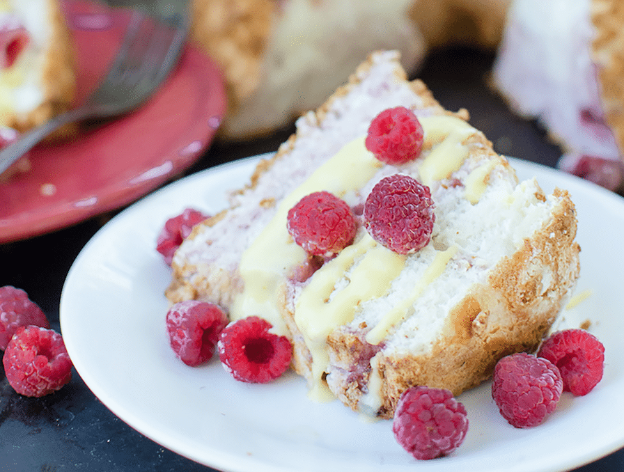 Made with a dozen eggs, Berry Swirl Angel Food Cake is a true farmstead cake! And our favorite way to use up a surplus when the hens lay abundantly in the spring. Also has a recipe for Honey Meringue Frosting.