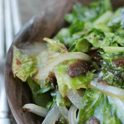 Garden Fresh Wilted Lettuce Recipe