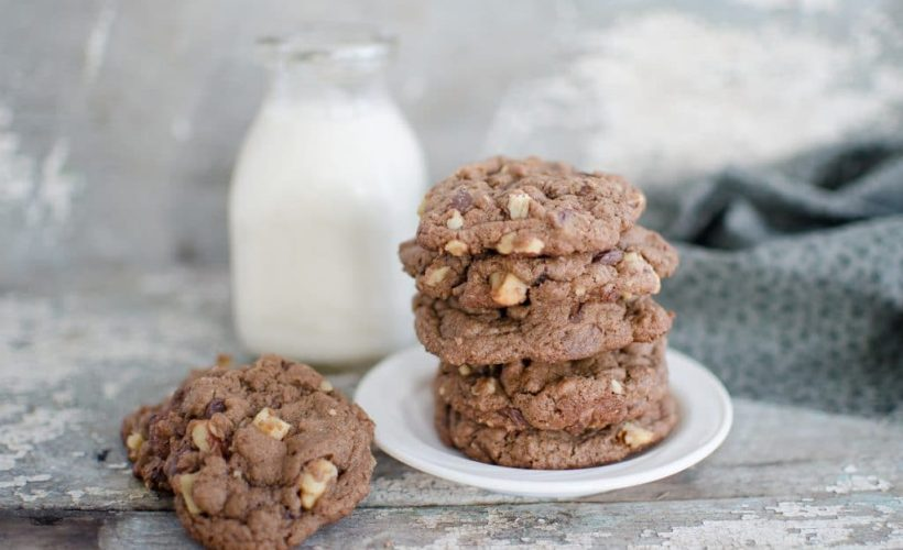 Scratch Baked Chocolate Chocolate Chip Cookies- these are the perfect milk-dipping cookie! A must for every family's cookbook!