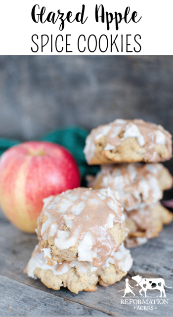 Scratch-Baked Glazed Apple Spice Cookies- This is the perfect early autumn cookie!