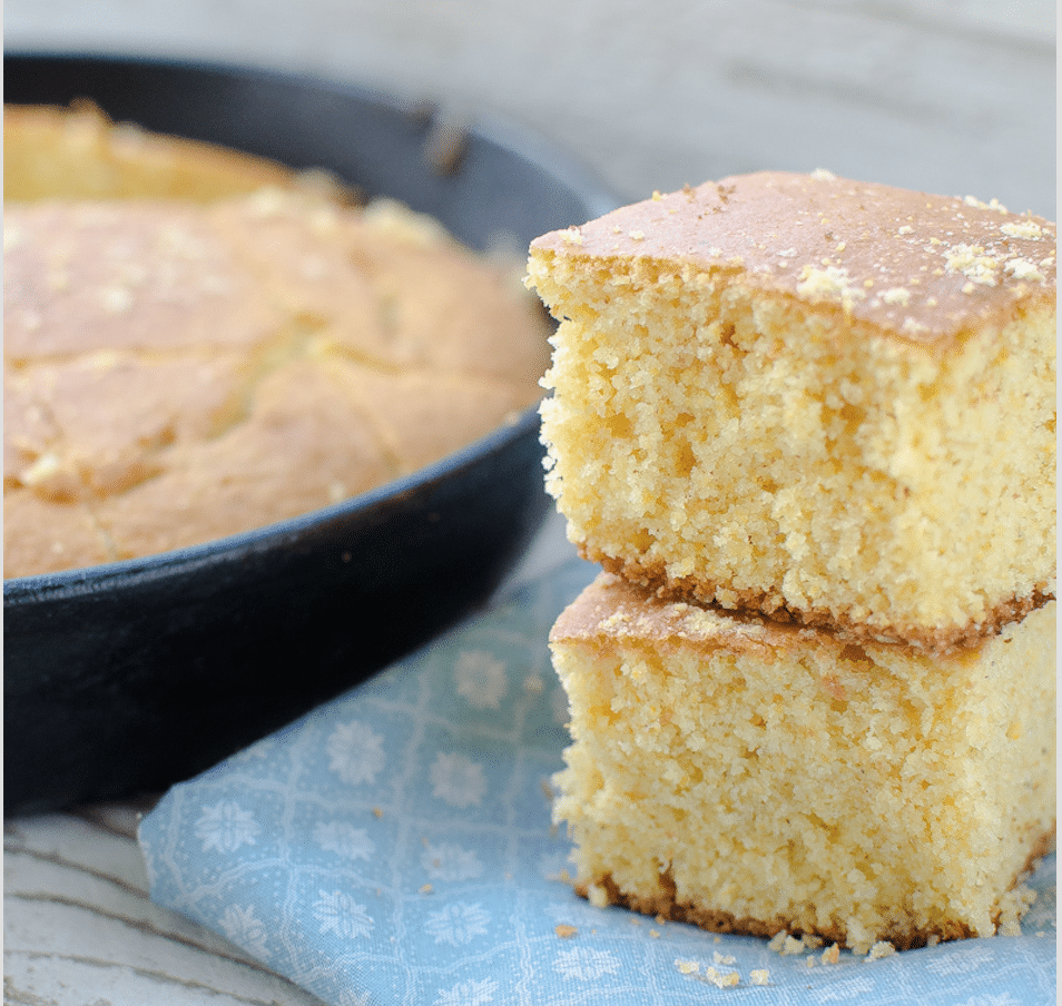Sweet Cornbread made from scratch (with muffins option too!)