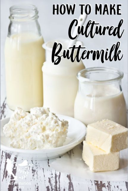 How to Make Cultured Buttermilk- Learn how to make cultured buttermilk or whole milk- great for using in recipes or as a culture in cheese making.