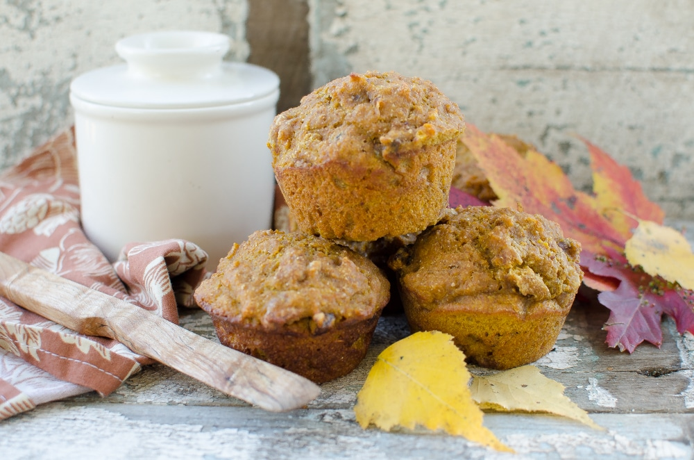 Pumpkin Nut Sourdough Muffins