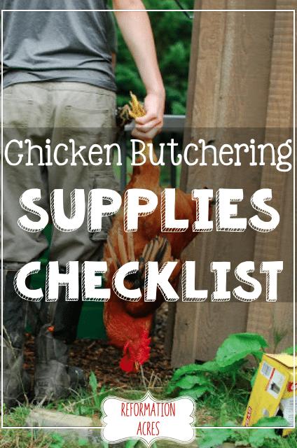 Essential Chicken Butchering Supplies Checklist