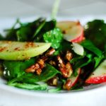Spinach, Apple, and Bacon Salad