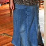 Refashioned Jean Skirts