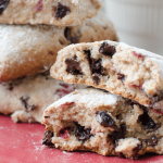 Whole Wheat Chocolate Chip & Strawberry Scones