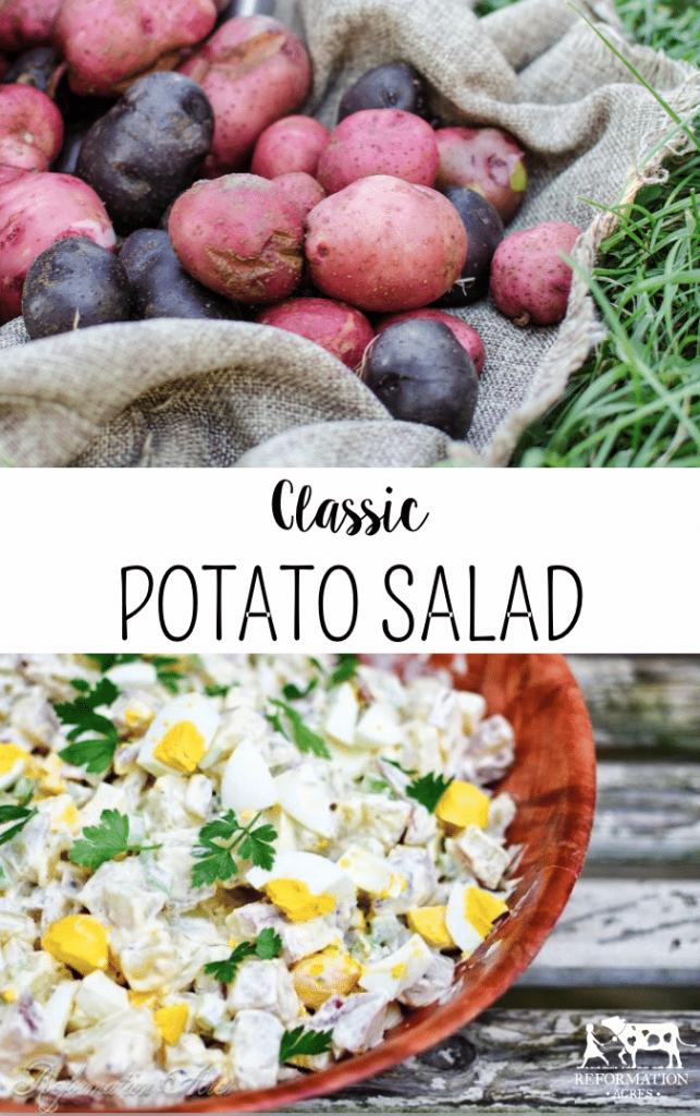 A Classic Potato Salad Recipe (That isn't a pile of yellow mush!)
