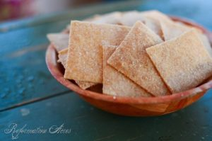 Whole Grain Wheat Thin Crackers- crispy & deliciously addictive! | www.reformationacres.com