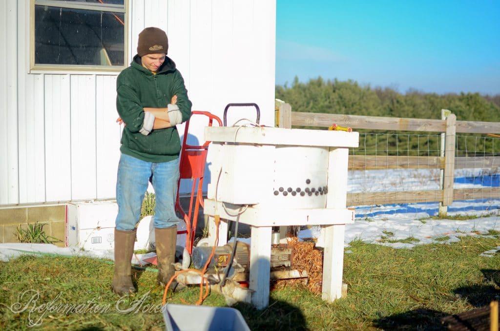 Homestead Chicken Butchering | onjustacoupleacres.blogspot.com-9