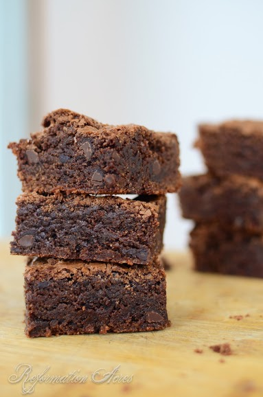Double Fudge Brownies made with the goodness of whole grains! | www ...