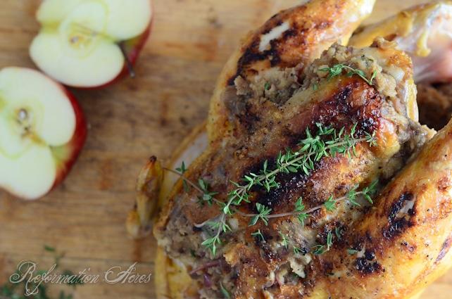 Apple Honey Stuffed Chicken-5