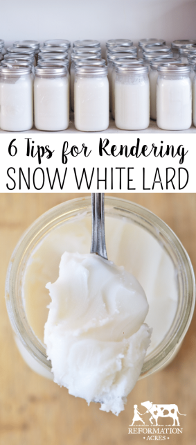 Rendering lard doesn't have to be tricky! Here are 6 tips I use to get snow white lard.