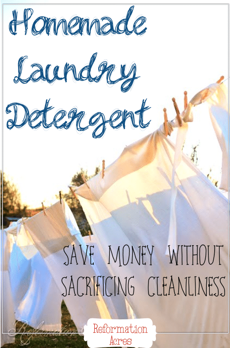 I've tried lots of recipes for homemade laundry soap over the years, but this DIY detergent recipe is the best! It's even strong enough to tackle farm dirt for only pennies per load!