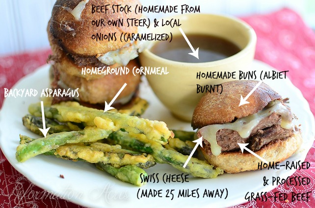 Slow Cooker French Dip Sandwiches- This is what eating local looks like!