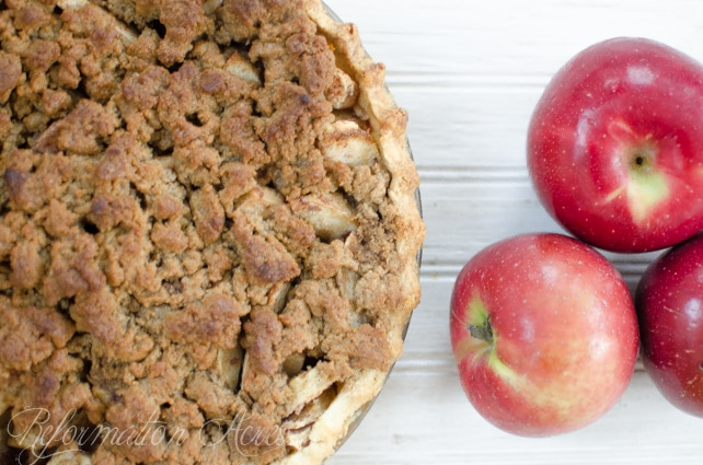Apple Pie with Crunchy Streusel Topping- this is our favorite apple pie!