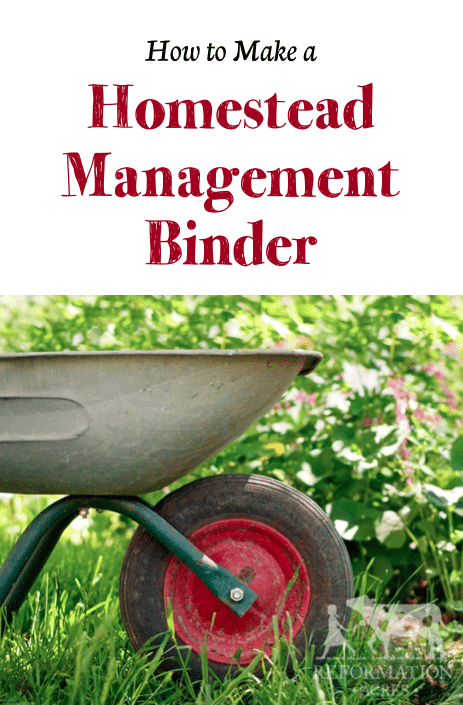 How to Make A Homestead Management Binder