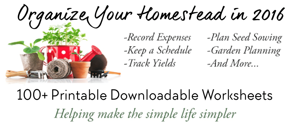 Organize Your Homestead in 2016