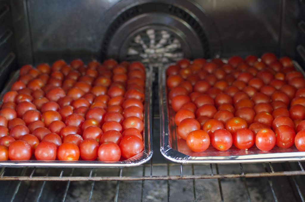 Learn how to make tomato paste with roasted cherry tomatoes! Compared to regular tomato paste, this is so quick & simple!