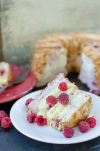 Berry Swirl Angel Food Cake from Cake Stand