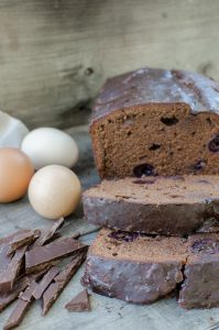 Dark Chocolate Cherry Pound Cake