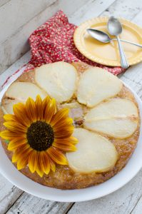 Caramel Pear Upside Down Cake