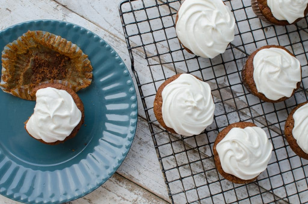 Sweet Potato Molasses Cupcakes from Cake Stand