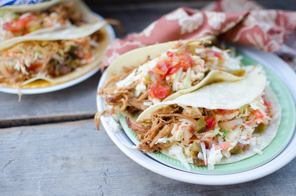 Cumin Pork Tacos with Cabbage Slaw & Salsa (An awesome recipe from the brand new cookbook The Elliott Homestead Family Table)