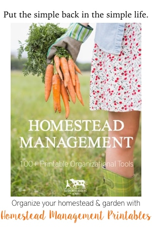 Homestead Management Printables