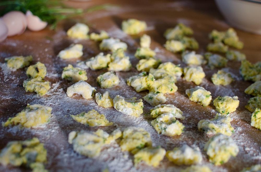 Parmesan Herbed Dumplings made with free range hen's eggs