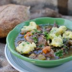 Oxtail Soup with Parmesan Herbed Dumplings