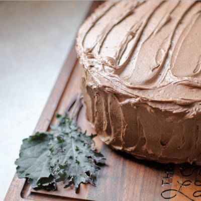 Chocolate Kale Cake with Fudge Frosting (and a BIG announcement!)