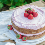 Strawberry Chamomile Cake