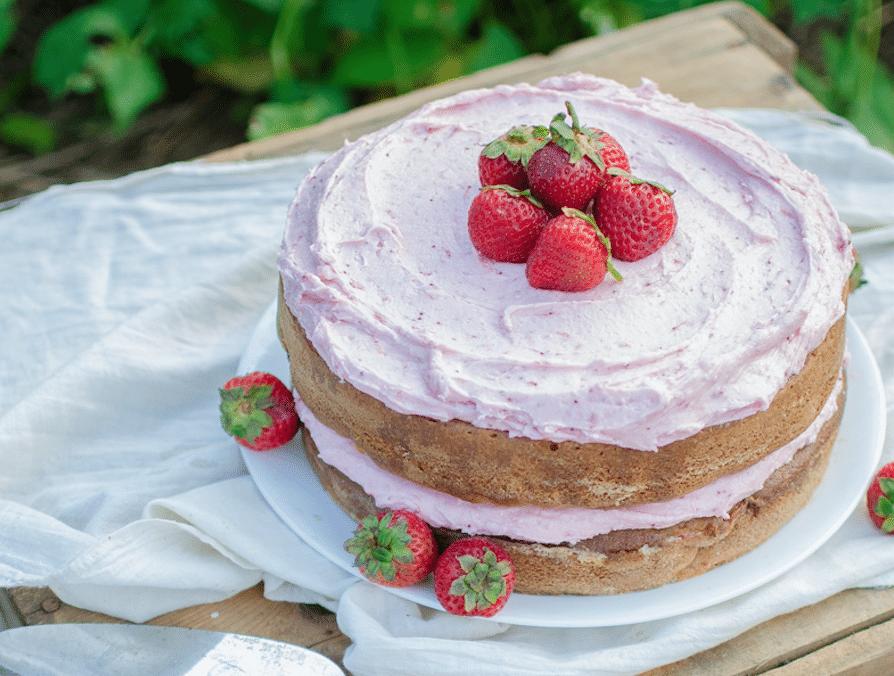 Strawberry Chamomile Cake