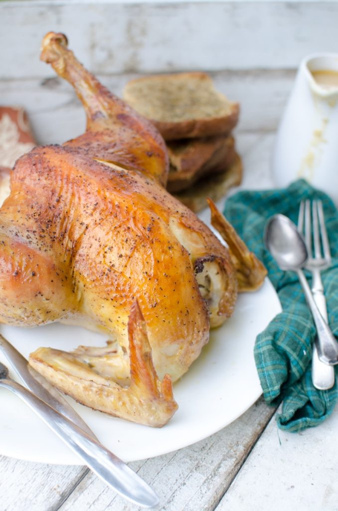 How to Roast a Chicken (Served with Herbed Stuffing Toast & Chicken Gravy)