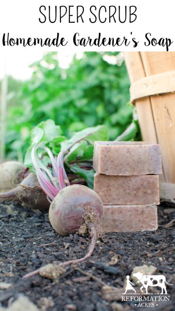 Super Scrub {Homemade Gardener's Soap Recipe}