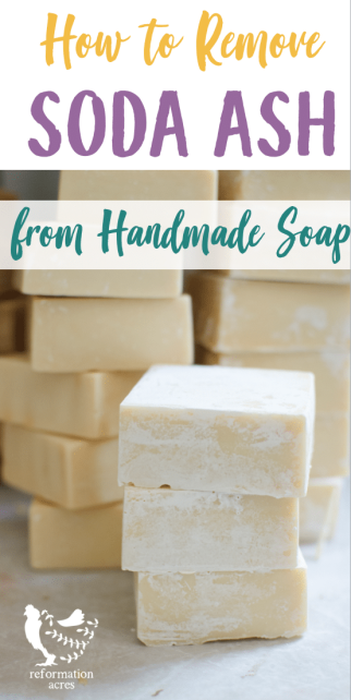 Dusty white soda ash plagues many soap makers. Learn how to remove soda ash from handmade soaps in a way that is easy and effective.