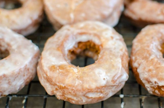 Old-Fashioned Sweet Potato Sour Cream Donuts- These are sweet, soft homemade donuts that stay fresh and delicious for days!
