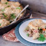 Beef Pot Pie with Herbed Biscuit Topping