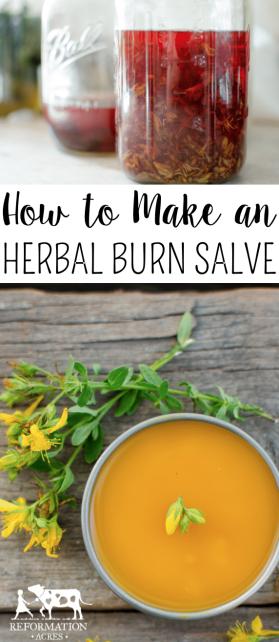 How to Make an Herbal Burn Salve