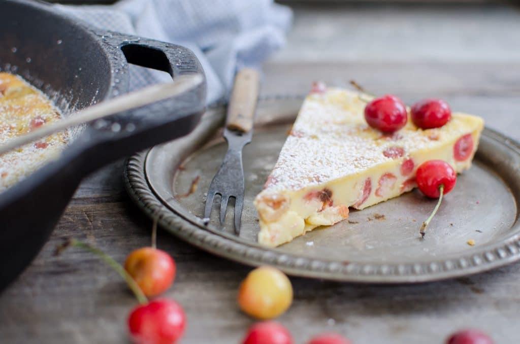Creamy Cherry Clafoutis