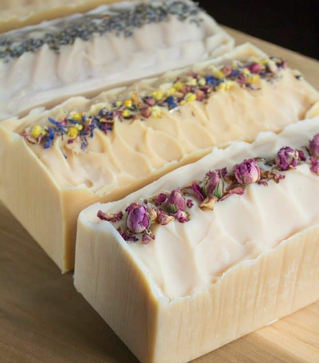 How to Make Flower Infused Milk Soap