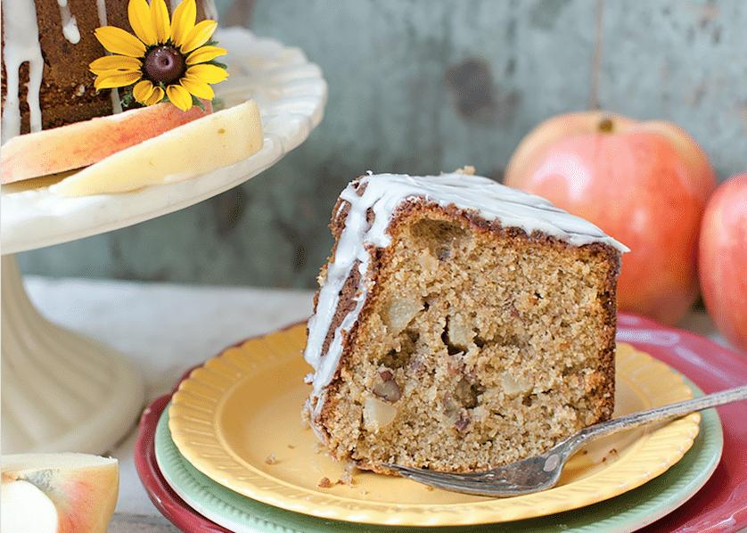 Whole Grain Harvest Apple Butter Cake - Reformation Acres