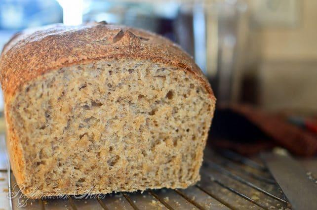 Maple Oat Sourdough Bread