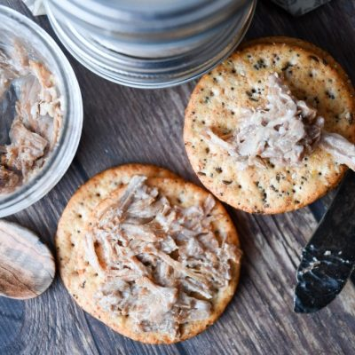 How to Preserve Crockpot Pork Rillettes in Lard