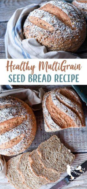 MULTIGRAIN SEED BREAD RECIPE: A healthy, multigrain Seed Bread make with whole grains like wheat, rye, oats, buckwheat, and quinoa and tasty pumpkin, sunflower, flax, and sesame seeds.