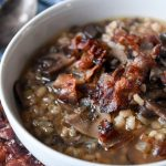 Bacon Mushroom Soup with Barley and Wild Rice Recipe