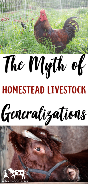 Homestead livestock generalizations are a myth! What's true for one animal might not be true for another. If your experience is different, you didn't fail.