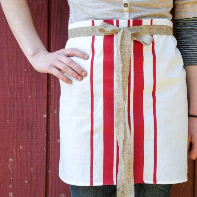 DIY French Bistro Apron Tutorial (No Sewing Required)